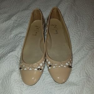 French Sole fs/ny patent leather ballet flats